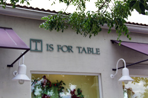 T is for Table