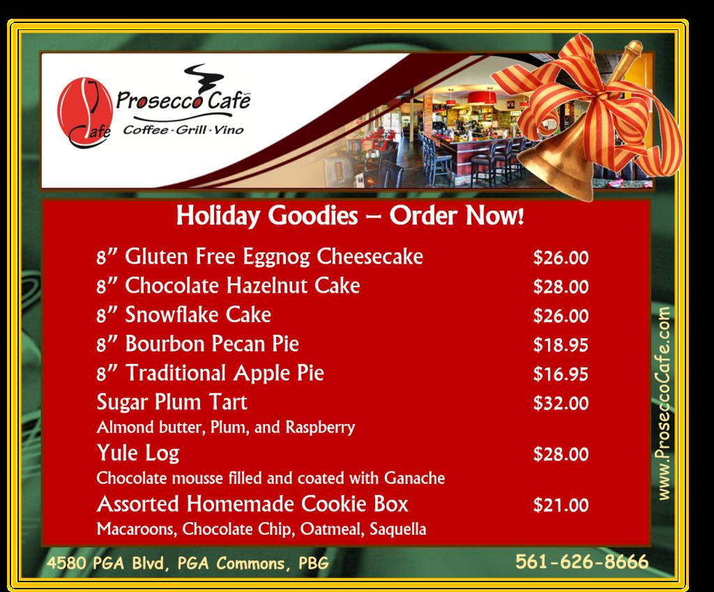 Holiday Bakery at Prosecco Café