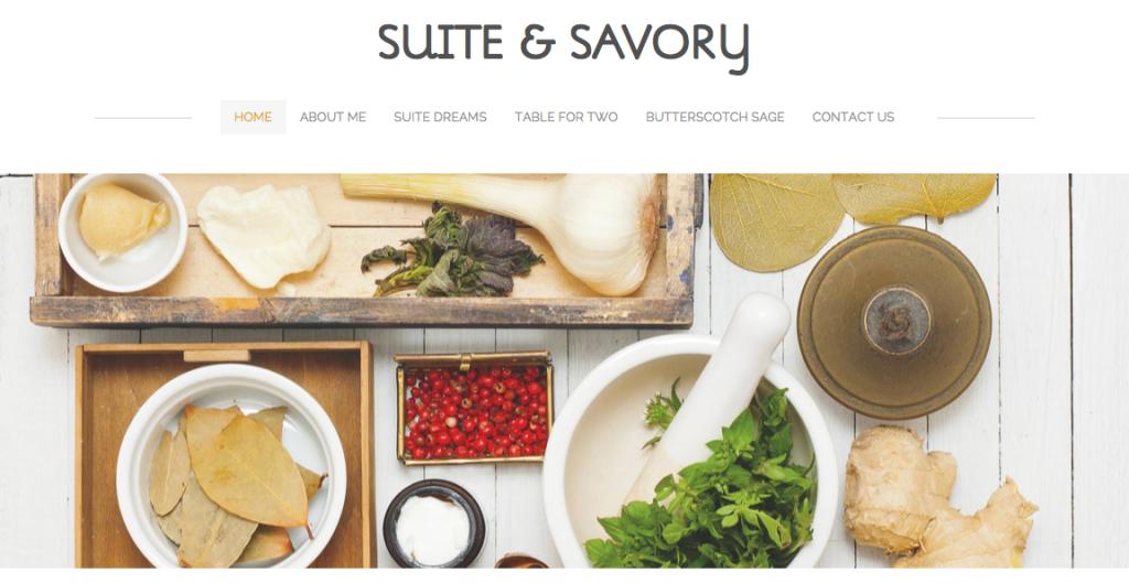 Suite & Savory Website